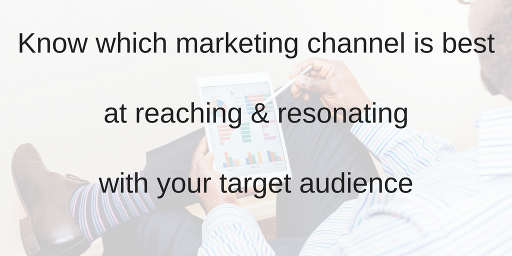 Know which marketing channel is best