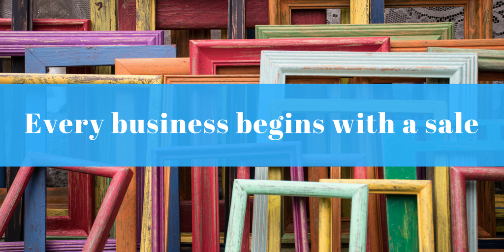 Every small business begins with a sale