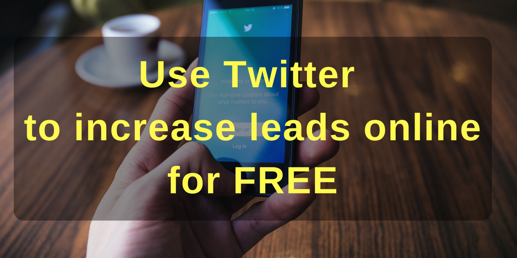 Use Twitter to increase B2B leads online